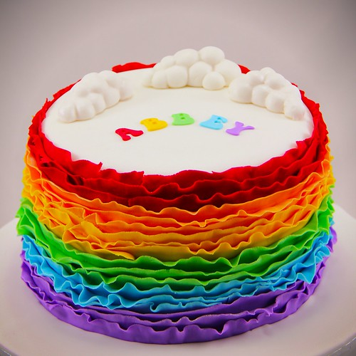 Rainbow Ruffle Cake by Coco Jo Cakes