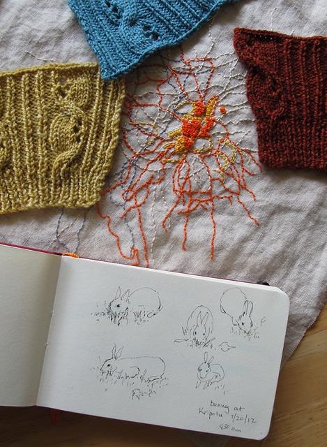 My Summer- Knit, Embroider, Draw