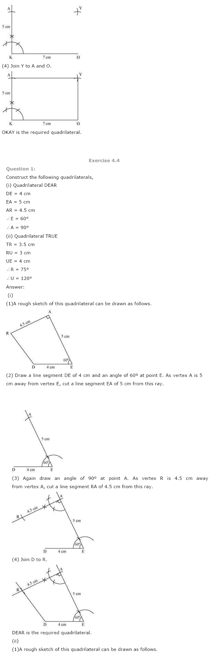 NCERT Solutions For Class 8th Maths Ch 4 Practical Geometry PDF Download Free 2018-19