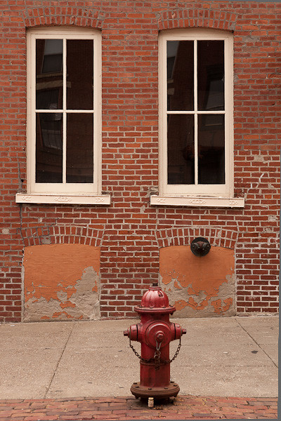 Red Fire Hydrant, Main Street, Galena Illinois