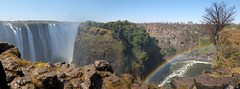 Panorama: Victoria Falls and Rainbow