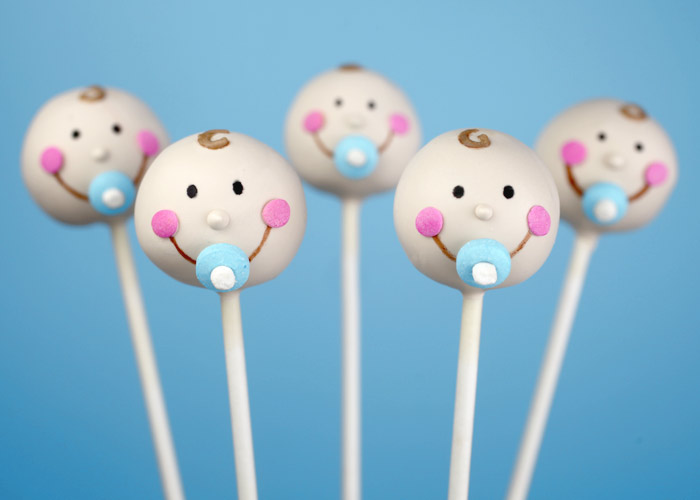 made baby face cake pops for someone special today