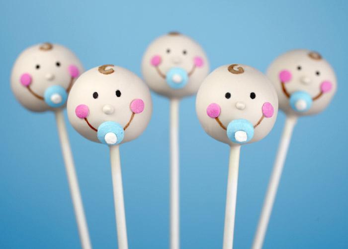 Cake Pop Ideas For A Baby Shower : Baby Faces   bakerella.com