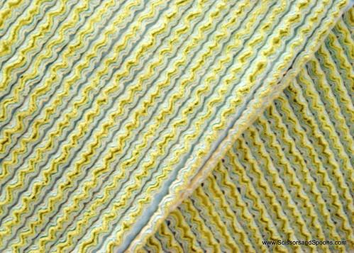Cut Chenille Baby Blanket - After Cutting Flannel and Washing