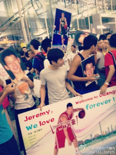 August 17th, 2012 - Fans wait for Jeremy Lin at the Guangzhou airport