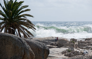 Image of Camps Bay Beach near Cape Town. southafrica capetown