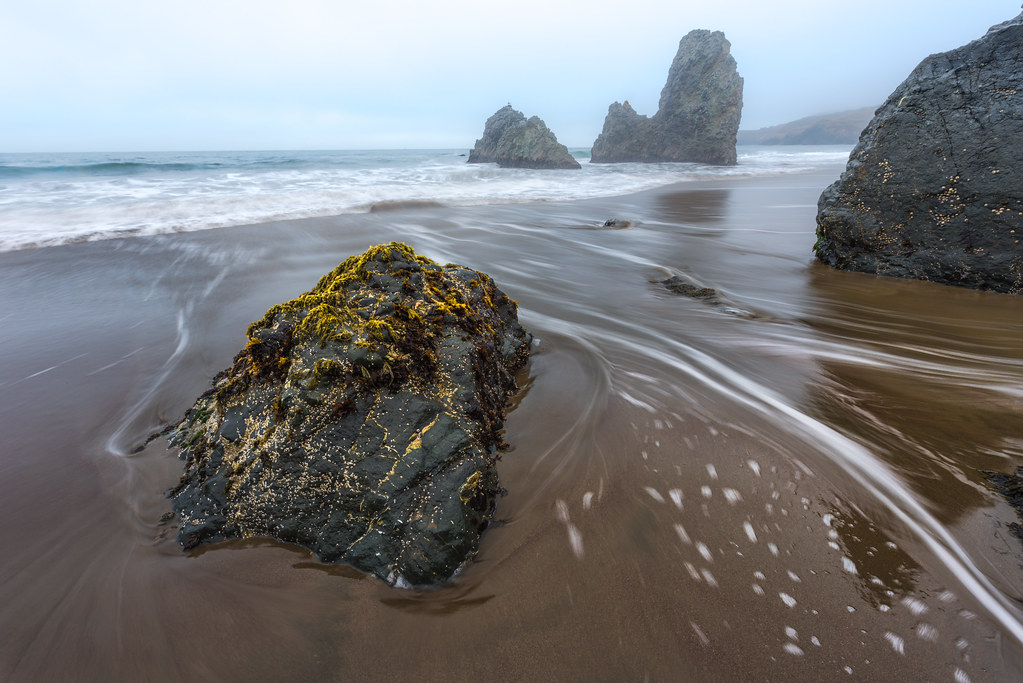 A foggy Rodeo Cove
