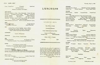 Queen Mary - Luncheon Menu (1960)