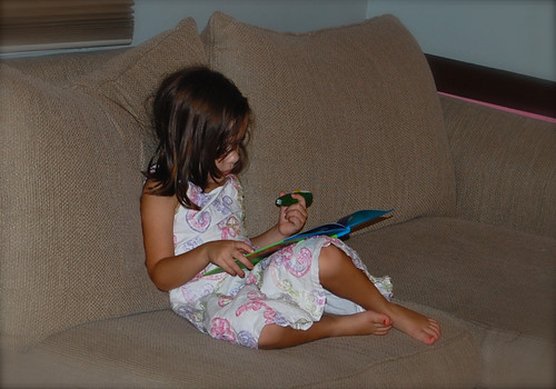 Reading the LeapFrog Tag Get Ready For Kindergarten book