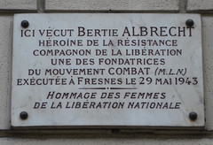 Photo of Bertie Albrecht marble plaque