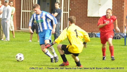Cliffe FC (p)1 - 1  Thorpe Utd (Selby Cup) 25Aug12