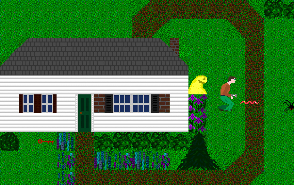Joan Stone's Sample, a demo game distributed with Recreational Software Designs' Game-Maker