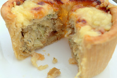 Cheesy Topped Chicken & Chorizo Pie