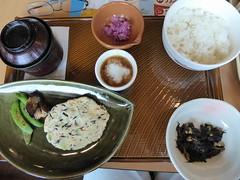 Vegetarian omelette set