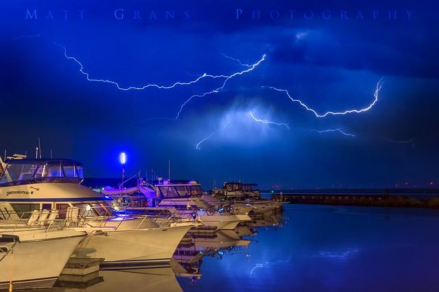 Lighting Up over the Marina