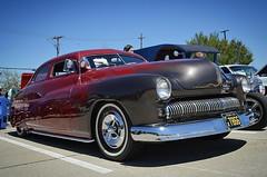 '50 Merc at Heights Car Show, Richardson, Tx ... #rebelrouserhotrods #flames #merc #50merc #kustomkulture #rockabilly #vintage #carsofinstagram #pinstriping #lowlife #whitewalls #kustom #hamb #chopped #slammed #texas #InstaDFW #oldcar #vintagecar #custom