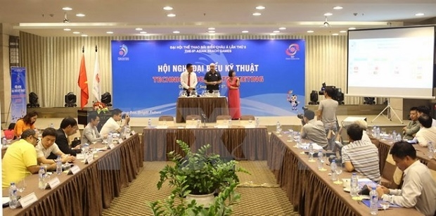 The draw for team sports at the ABG5 takes place after the technical delegates' meeting (Photo: VNA)