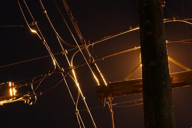 Power Pole Night Shot, Tacoma, Washington
