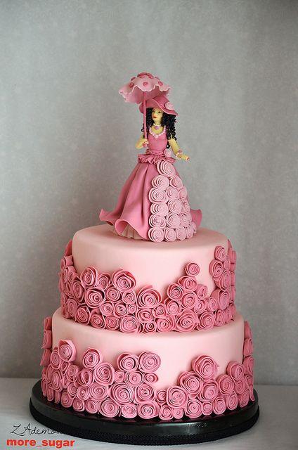 Pink Vintage Cake by More_Sugar