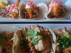 Chicken and prawn soft tacos