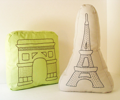 Paris pillows by ALittleWorld