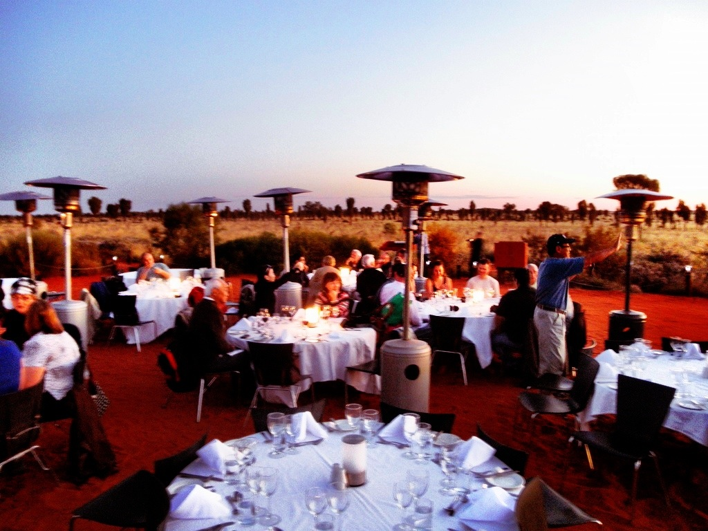 Sounds of Silence dinner at Uluru, Australia