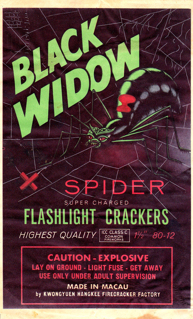 Black Widow - Firecracker Brick Label