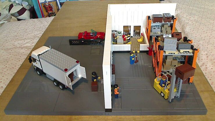 General overview of a LEGO® model of a warehouse
