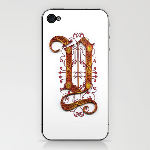 Quilled iPhone Monogram