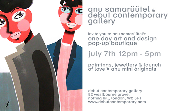 DESIGN AND ARTpopup boutique DEBUT CONTEMPORARY+ANU SAMARÜÜTEL FLYER 2