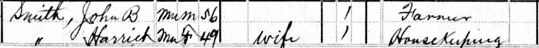 John B Smith 1880 Census A