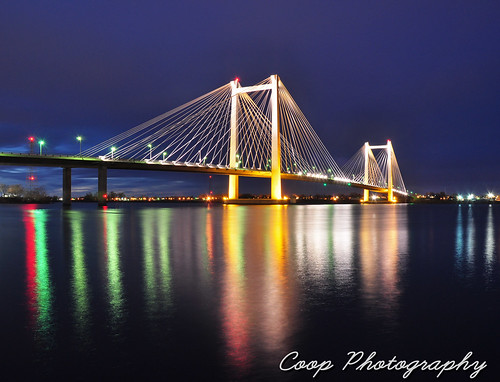 bridge night river ed photography washington nikon long exposure cities cable wa coop tri kennewick pasco d90 hendler couumbia