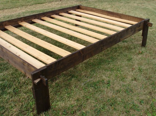 wood bedframe