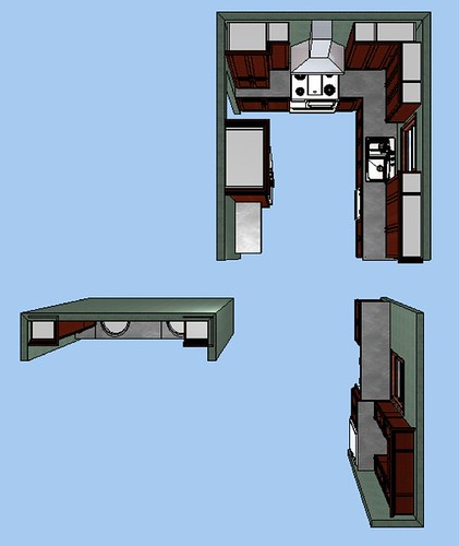 overhead view.cabinetry layout