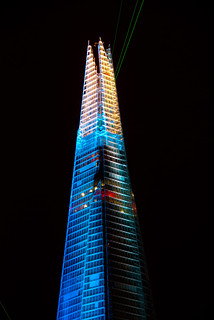 Laser show at the opening of the Shard - London Bridge