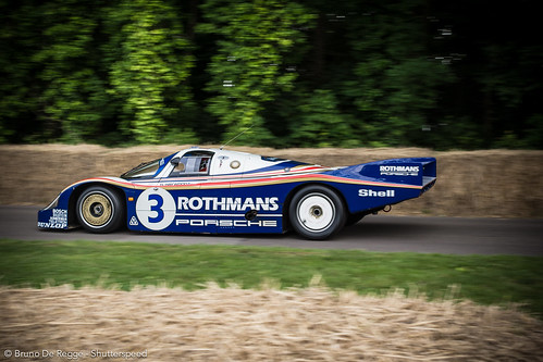 Heritage Porsche Group C on the 2012 Goodwood Festival of Speed.