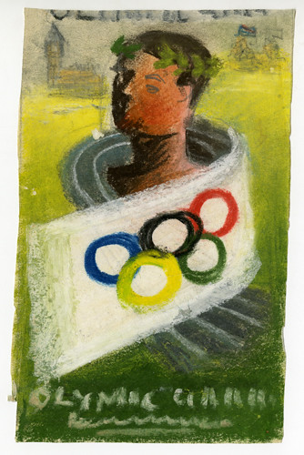 Pastel drawing for Olympic poster