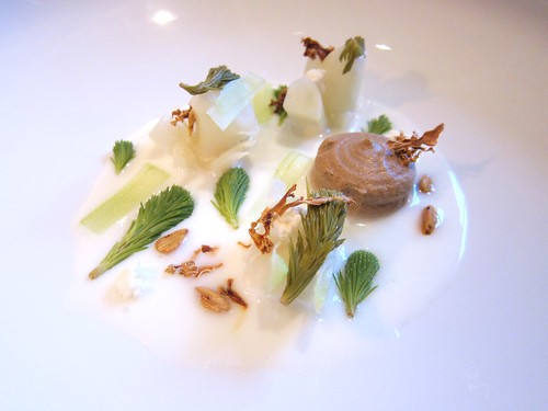 Cauliflower, Fir, Beechnuts and Buttermilk at Villa Merton