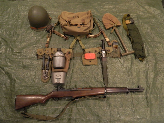 Wwii Combat Field Gear Rifleman S Equipment For Wwii