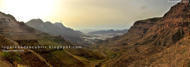 El valle de La Aldea de San Nicolás (Gran Canaria, España)