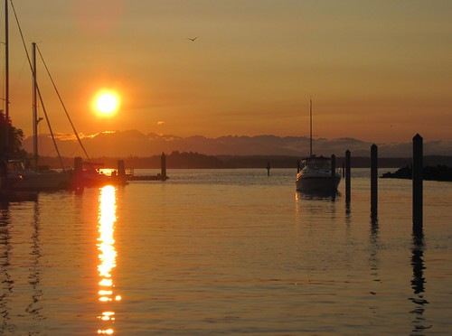 sunset pugetsound blakeisland 20121
