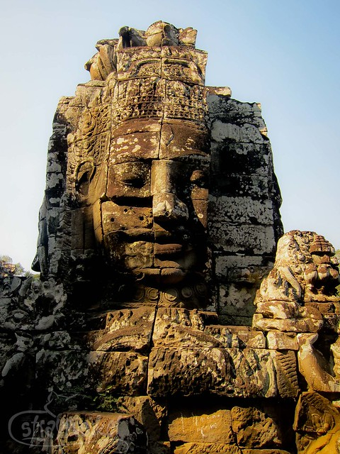 Stone Face at Bayon Temple