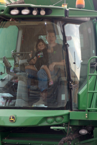 Its amazing what you will see in the combine cab as it passes