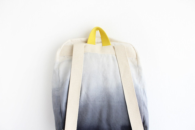 grey dyed with black backpack
