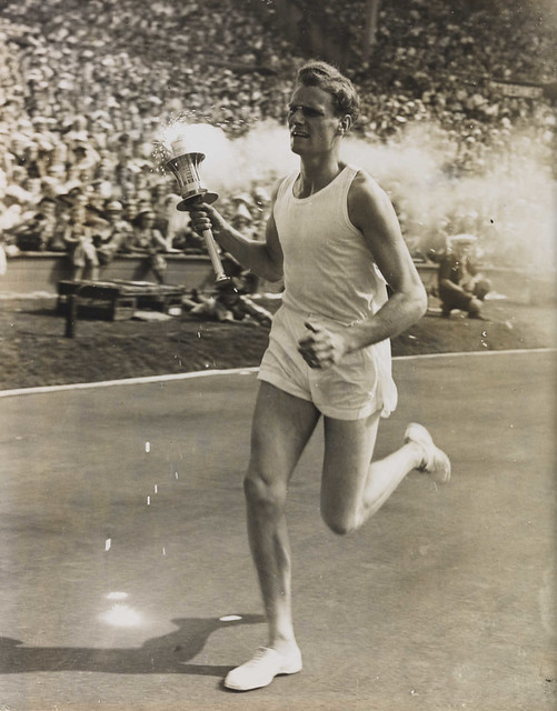 John Mark Olympic Torch Bearer, London, 1948.