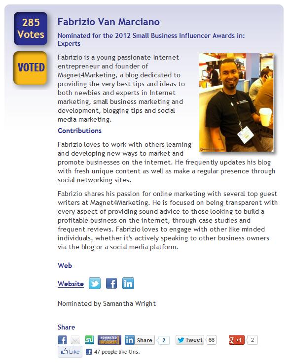 Vote For Fabrizio Van Marciano