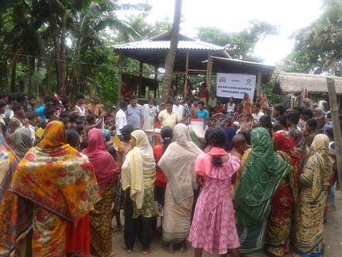 Assam floods: Community gathering