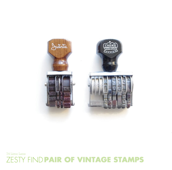 {zesty find} pair of vintage stamps