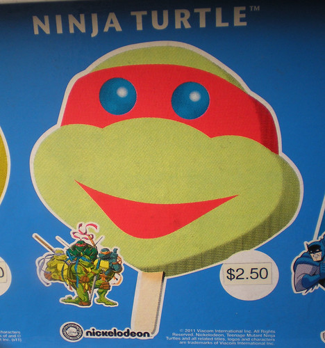 Blue Bunny :: Teenage Mutant Ninja Turtle 'Face' Bars - vendor sticker strip ii (( 2011 ))