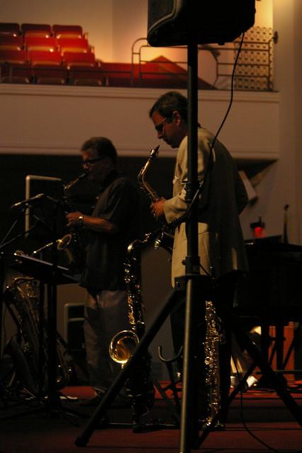 Dueling Saxophones